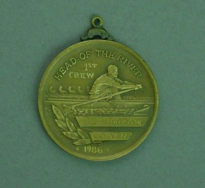 Medal, Carey Grammar School Head of the River First Crew Coach - Peter Antonie