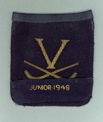 Blazer pocket, Victorian hockey c1930s