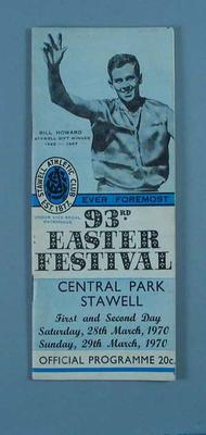 Programme, Stawell Easter Gift 1970; Documents and books; 1997.3304.15