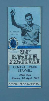 Programme, Stawell Easter Gift 1969