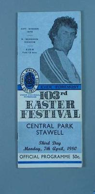 Programme, Stawell Easter Gift 1980