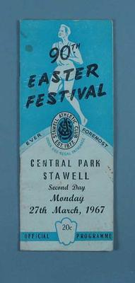 Programme, Stawell Easter Gift 1967