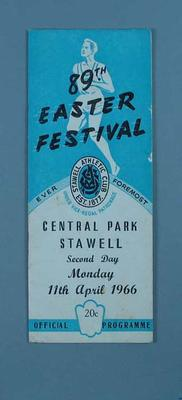 Programme, Stawell Easter Gift 1966