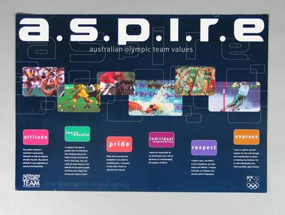 Posters x 7 - a.s.p.i.r.e. Australian Olympic Team Values
