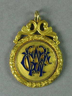 Medal presented to G F Wright by Turner Bros for riding Harley-Davidson motorcycles, 1916-17 season