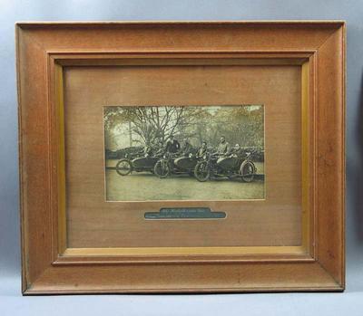 Photograph - 1917 Harley Davidson Team- Boomerang Cup