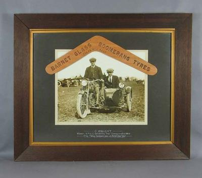 Photograph - 1918-19 VMCC Reliability Trial Championship Winner, G.F. Wright