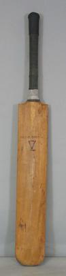 """Cricket bat, """"V for Victory"""" stamp c.1945"""