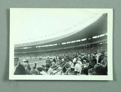 Photograph of 1956 Olympic Games crowd, MCG - Southern Stand