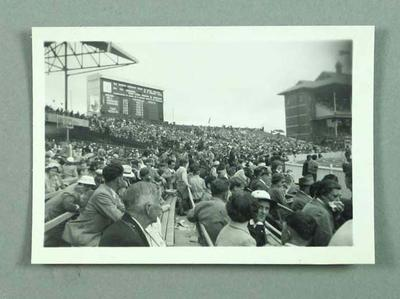 Photograph of 1956 Olympic Games crowd, MCG