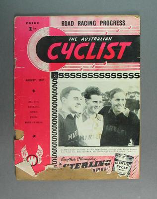 "Magazine, ""The Australian Cyclist"" Aug 1951"
