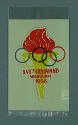 Sticker, 1956 Olympic Games logo