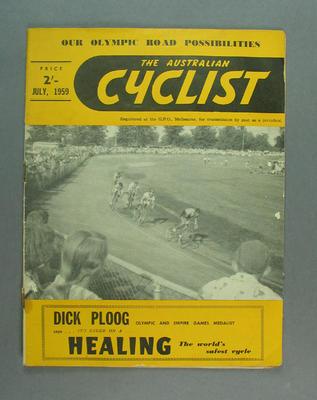 "Magazine, ""The Australian Cyclist"" July 1959"