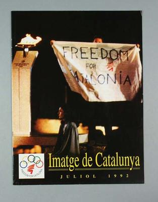 """Booklet, """"Images of Catalonia"""" 1992 Olympic Games"""