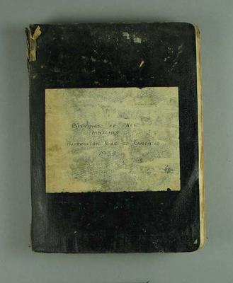 Scrapbook detailing Australia v England Test series, 1934