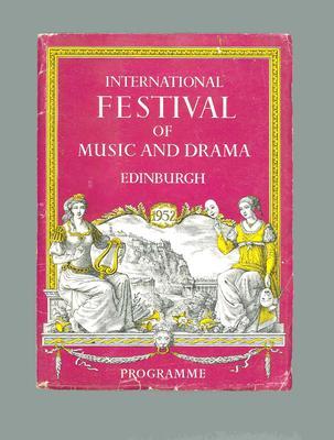 Programme for 1952 Edinburgh Festival