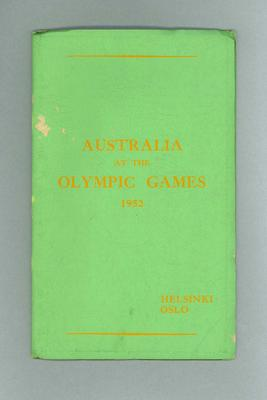 Australia at the 1952 Olympic Games