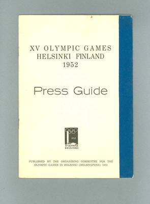 Press guide for 1952 Olympic Games