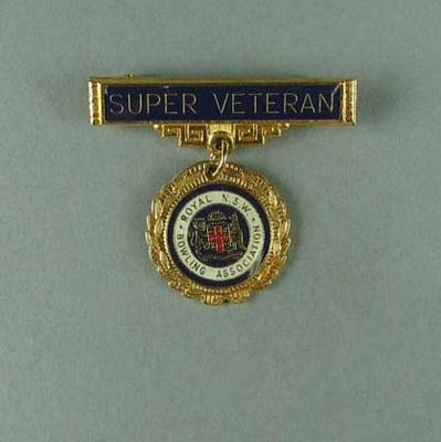 Royal NSW Bowls Association 'Super Veteran' pin