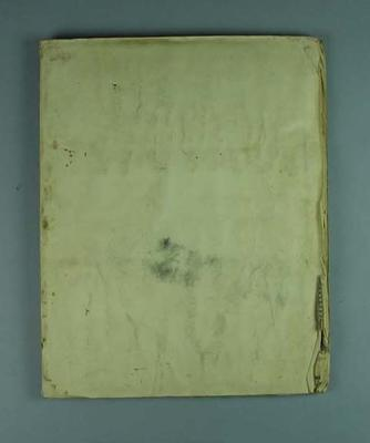 Scrapbook containing newspaper clippings related to cricket, c1930-33