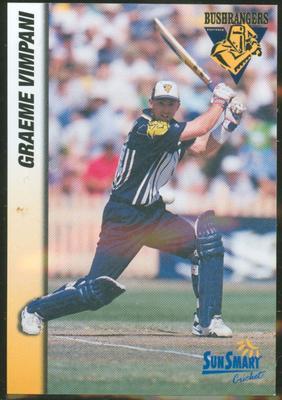 1998 VCA Bushrangers Graeme Vimpani trade card