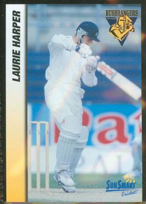 1998 VCA Bushrangers Laurie Harper trade card