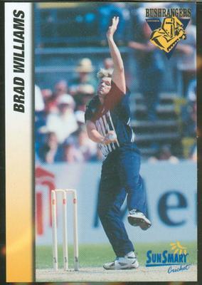 1998 VCA Bushrangers Brad Williams trade card