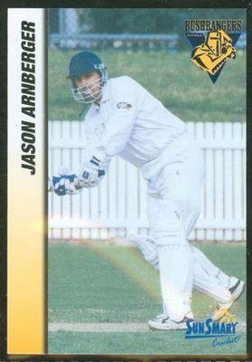 1998 VCA Bushrangers Jason Arnberger trade card