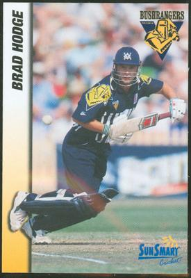 1998 VCA Bushrangers Brad Hodge trade card