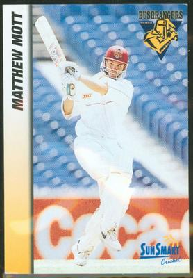 1998 VCA Bushrangers Matthew Mott trade card