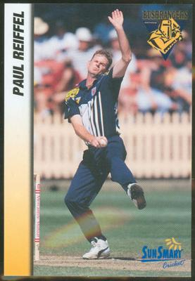 1998 VCA Bushrangers Paul Reiffel trade card