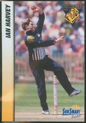 1998 VCA Bushrangers Ian Harvey trade card