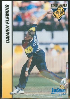 1998 VCA Bushrangers Damien Fleming trade card