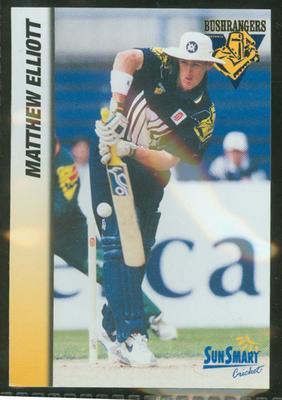 1998 VCA Bushrangers Matthew Elliott trade card