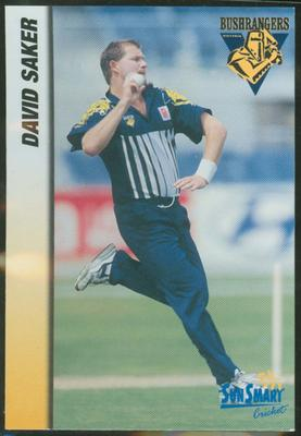 1998 VCA Bushrangers David Saker trade card