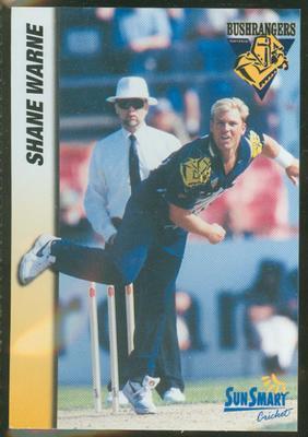 1998 VCA Bushrangers Shane Warne trade card