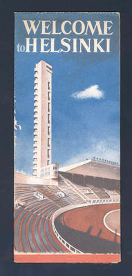 Tourist brochure and map, Helsinki - 1952 Olympic Games