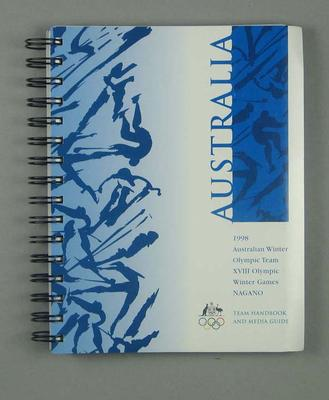 Book - 1998 Winter Olympic Games, Nagano Japan - Team Handbook & Media Guide; Documents and books; 1998.3351.1
