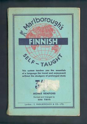 "Booklet, ""Marlborough's Finnish Self Taught"""