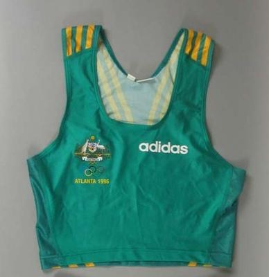 Singlet worn by Steve Moneghetti in the marathon, 1996 Olympic Games Atlanta