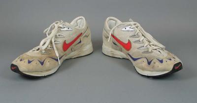 Running shoes worn by Steve Moneghetti in the marathon, 1996 Olympic Games  Atlanta