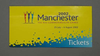 Tickets, 2002 Manchester Commonwealth Games