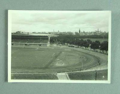 Photograph of athletics track on MCG during 1956 Olympic Games