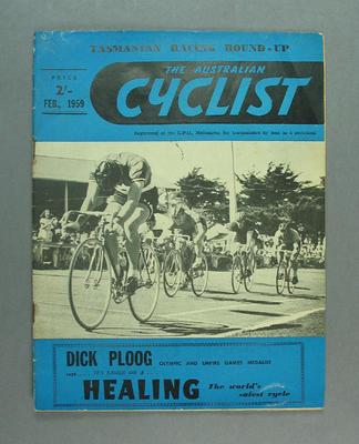 "Magazine, ""The Australian Cyclist"" Feb 1959"