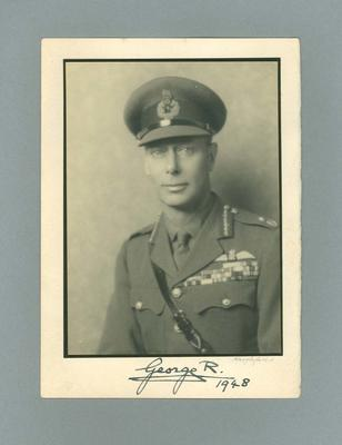 Photograph of King George VI presented to P.A. Pavey, King's Prize winner 1948
