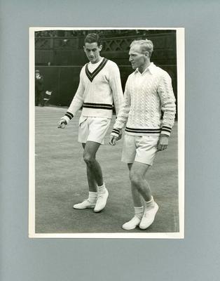 Photograph, J.E. Bronwich & R. Falkenburg Men's Single Finals Wimbledon 1948