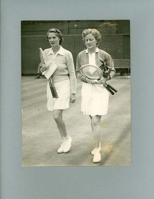 Photograph - Mrs H.C. Hopman and Kay Menzies, Centre Court Wimbledon 1947