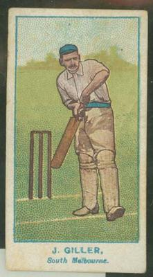 1905 Wills Capstan Australian Club Cricketers James Giller trade card