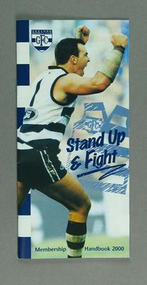 Booklet - 'Stand Up and Fight' part of Geelong Football 2000 campaign
