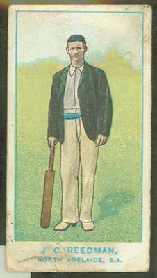 1905 Wills Capstan Australian Club Cricketers J C Reedman trade card